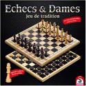 Jeux d'échecs et de dames en bois