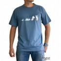 "T-shirt Lapins Crétins ""Tshirt ""Evolution"" stone blue"