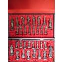 Pièces d'échecs métal