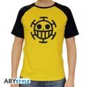 T-shirt One Piece Trafalgar Law jaune