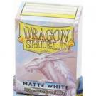 100 Protège-cartes Dragon Shield Matte Blanc