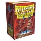 100 Protège-cartes Dragon Shield Rouge
