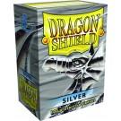 100 Protège-cartes Dragon Shield Argent