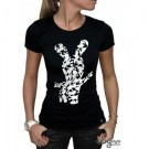 """T-shirt Lapins Crétins """"Silhouette"""" femme"""