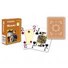 52 Cartes Poker Modiano marron