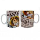 Mug 460 ml Wanted Luffy
